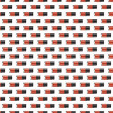 Red nail polish seamless pattern. Digital drawing of nail lacquers in a row. Isolated Royalty Free Stock Photo