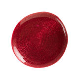Red nail polish stain Stock Photography