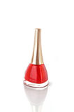 Red  nail polish on white Royalty Free Stock Photography