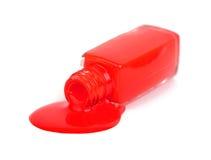 Red nail polish Royalty Free Stock Images