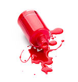 Red nail polish Stock Photos