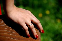Red nail varnish Royalty Free Stock Photos