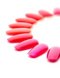 Red nail varnishes Royalty Free Stock Photo