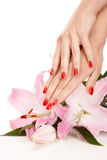 Red nails Royalty Free Stock Images