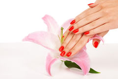 Red nails Royalty Free Stock Photos
