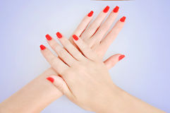 Red nails Royalty Free Stock Photography