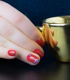 Red nails Stock Photography
