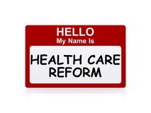 Hello my name is health care reform Royalty Free Stock Photos