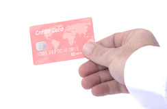 Red nameless Credit card Royalty Free Stock Photography
