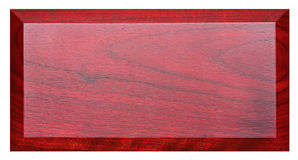 Red nameplate Royalty Free Stock Image