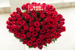 Red naomi rose bouquet Stock Photo