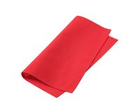 Red napkin Stock Image