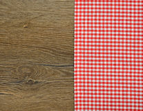 Red napkin stock image