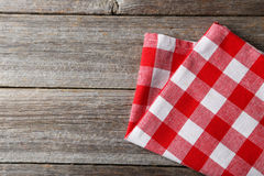 Red napkin Royalty Free Stock Photo