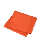 Red napkin isolated on white Stock Images