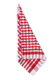 Red napkin Stock Photography