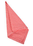 Red napkin Stock Photos
