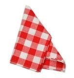 Red napkin. Isolated on white background Stock Image