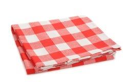 Red napkin. Isolated on white background Royalty Free Stock Image
