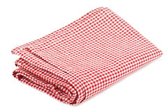 Red napkin Stock Images