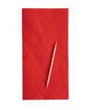 Red napkin on white background Stock Photos