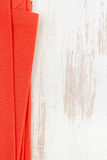 Red napkin on white background Stock Photography