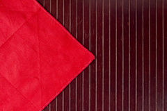Red napkin Royalty Free Stock Images