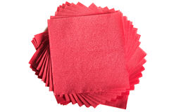 Red napkins Stock Photo