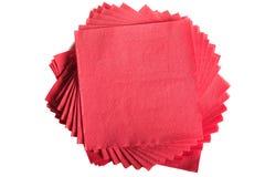 Red napkins Stock Photo
