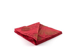 Red napkins Stock Images