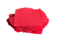 Red napkins Royalty Free Stock Photo