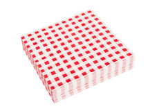 Red napkins. Isolated on the white background Royalty Free Stock Photos