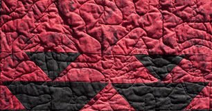 Red Native Pattern Quilt Background. A Native American pattern quilt block background stock photos