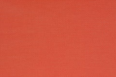 Red natural cotton fabric. Aida texture for the background. Royalty Free Stock Image