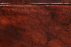 Red natural leather background Stock Photography