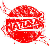 Red Natural Stamp Royalty Free Stock Photo