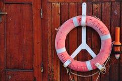 Red  nautical. Red nautical circle Stock Photos