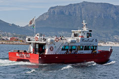 Red Nauticat Boat in Hout Bay South Africa Royalty Free Stock Photo