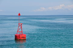 Red Navagation Buoy Royalty Free Stock Images