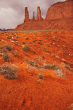 Red Navajo Sandstone of Monument Valley Royalty Free Stock Images