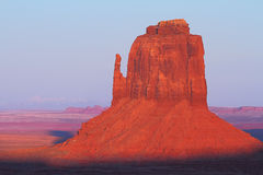 Red Navajo Sandstone of Monument Valley. The Beautiful Red Navajo Sandstone of the Iconic Landscape of Monument Valley royalty free stock photos