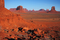 Red Navajo Sandstone of Monument Valley Royalty Free Stock Photo