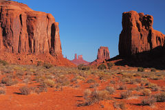 Red Navajo Sandstone of Monument Valley Stock Photos