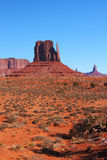 Red Navajo Sandstone of Monument Valley. The Beautiful Red Navajo Sandstone of the Iconic Landscape of Monument Valley royalty free stock photo