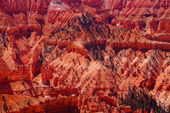 Red Navajo sandstone pinnacles and cliffs Stock Photos