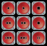 Red navigation buttons. Royalty Free Stock Photos