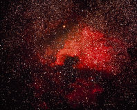 Red Nebula Stock Photo
