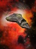 Red Nebula Tide Stock Image