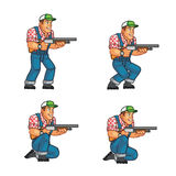 Red Neck Crouching Sprite Royalty Free Stock Photos