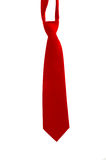Red Neck Tie. Isolated red neck tie for males Royalty Free Stock Photography